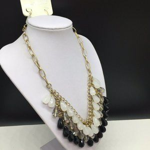 Charming Charlie Jewelry - NEW Charming Charlie Black Clear Beaded Necklace
